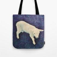 lamb Tote Bags featuring Lamb by Richard PJ Lambert