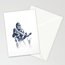 Quarterback throwing a touchdown pass. Stationery Cards