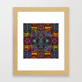 The symmetry of being Framed Art Print