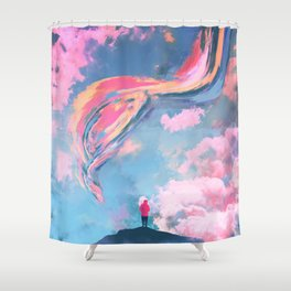 You Carry Me Higher Shower Curtain
