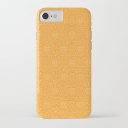 N81 - Yellow Antique Geometric Traditional Islamic Moroccan Alhambra Design. iPhone Case