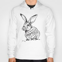 poop Hoodies featuring Poop Rabbit by Nat Osorio
