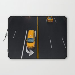 Taxi on the Street (Color) Laptop Sleeve