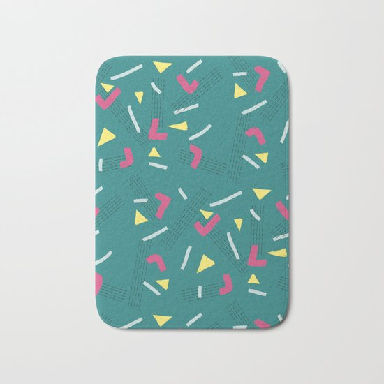 Funny Scribbles #society6 #decor #buyart Bath Mat