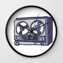 Vintage Tape Recorder Wall Clock