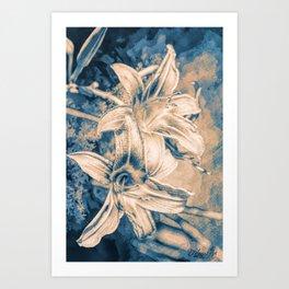 Blue Velvets Art Print