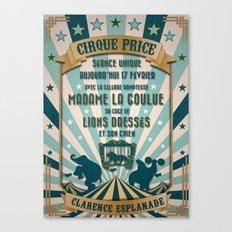 CIRQUE PRICE BLEU Canvas Print