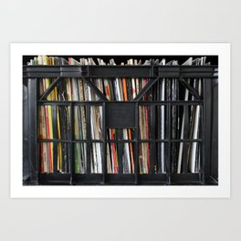 Vinyl DJ Crate Art Print