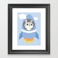 Mobil series rocket bunny Framed Art Print