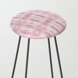 Tie Dye Roses Counter Stool