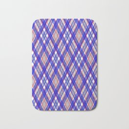 Blue, pink tartan plaid. Bath Mat