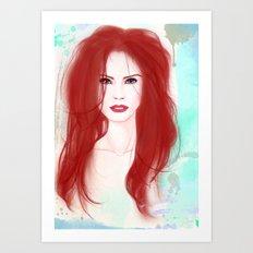 The not so little mermaid Art Print