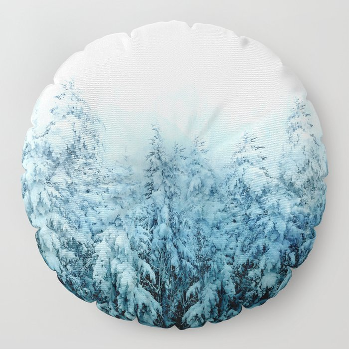 Winter Forest Floor Pillow