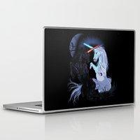 starwars Laptop & iPad Skins featuring Starwars with unicorns (black) by Jonah Makes Artstuff