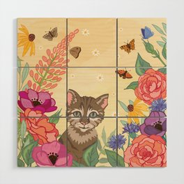 kitten Wood Wall Art