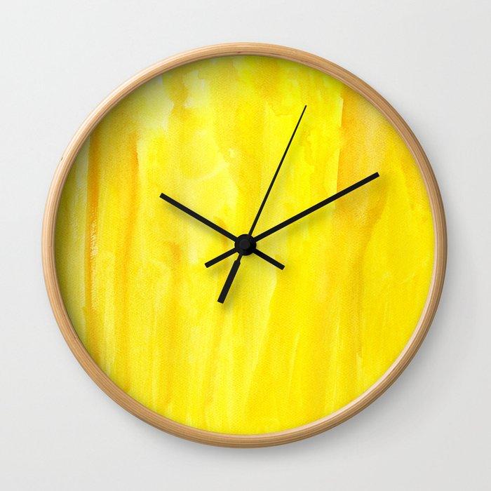 Yellow no. 1 Wall Clock