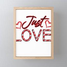 Just Love Valentine Framed Mini Art Print