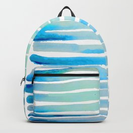 New Year Blue Water Lines Backpack