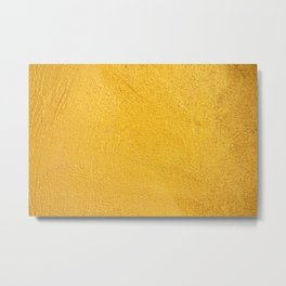 GOLDEN WALL / TEXTURE Metal Print