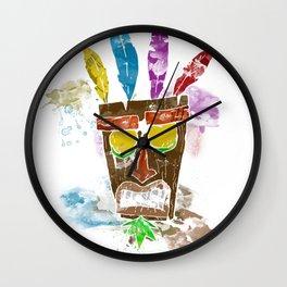 Aku Aku Mask, Inspired by the fantastic crash Bandicoot Playstation game Wall Clock