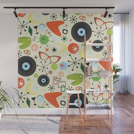 Retro 50's 60's Vintage Fashion Pattern Wall Mural