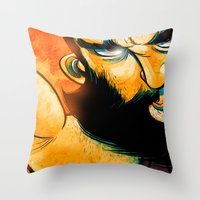 heavy metal Throw Pillows featuring Heavy Metal by Toni Caputo