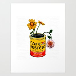 Coffee and Flowers for Breakfast Art Print