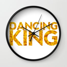 Dancing king Wall Clock