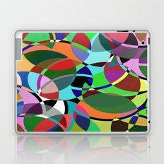 Pastel Pieces II - Abstract, textured, pastel, arcs and circles design Laptop & iPad Skin