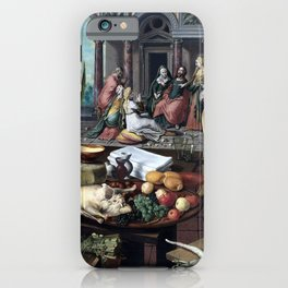 Pieter Aertsen Christ in the House of Martha and Mary iPhone Case
