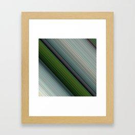 Decorative Colorful Green Blue Lines Design Framed Art Print