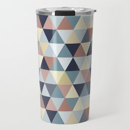 Earth Tones and Blues Small Triangles A Travel Mug