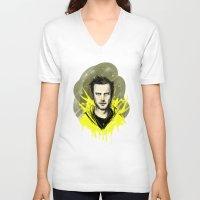 jesse pinkman V-neck T-shirts featuring Pinkman by loridb