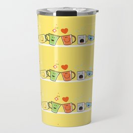 Pattern with cups. Travel Mug