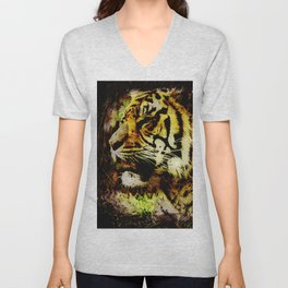 Wild Tiger Artwork Unisex V-Neck