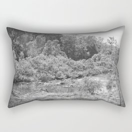 Magnificent River in Black and White Rectangular Pillow