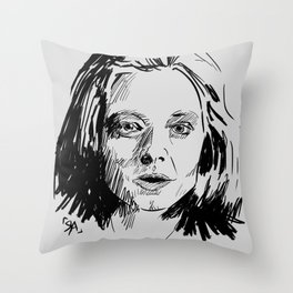 Clarice Starling Sketch - The Silence of the Lambs Throw Pillow