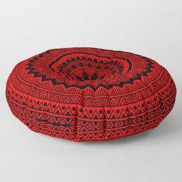 Red Mandala Floor Pillow