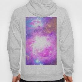 Colorful Pastel Pink Nebula Purple Galaxy Stars Hoody