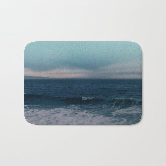Blue California Ocean Bath Mat