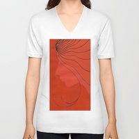 ginger V-neck T-shirts featuring Ginger by mojekris