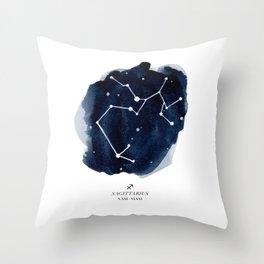 Zodiac Star Constellation - Sagittarius Throw Pillow