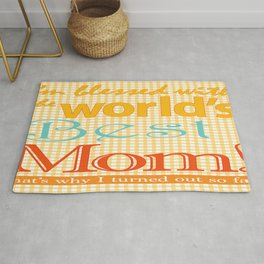 Mothers day graphic art Best MOM ever zollione store home decor Rug