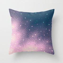 Lilac Nebula (8bit) Throw Pillow