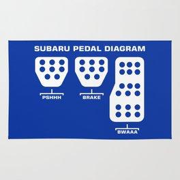 Subaru Pedal Diagram Rug