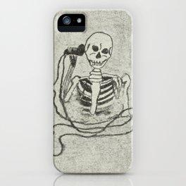 Skeleton's telephone. iPhone Case