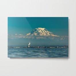 Rainier Mt Metal Print