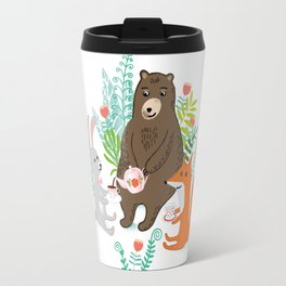 woodland tea party Travel Mug