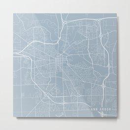 Ann Arbor Map, USA - Slate Metal Print