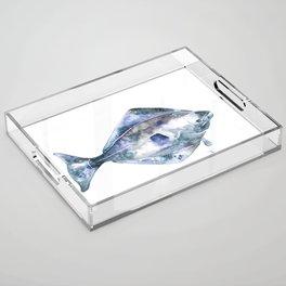 Flat Fish Watercolor Acrylic Tray